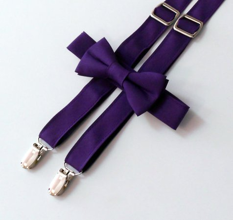 purple suspenders and bowtie set - Google Search