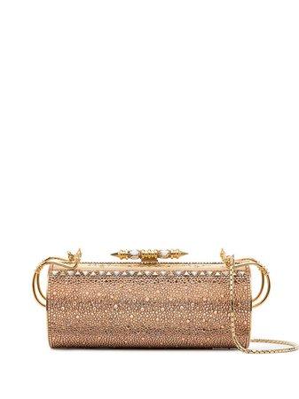 OKHTEIN Felucca Swarovski-embellished clutch bag gold OK155SVOMBREG - Farfetch