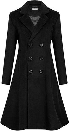 Amazon.com: APTRO Women's Winter Wool Dress Coat Double Breasted Pea Coat Long Trench Coat: Clothing