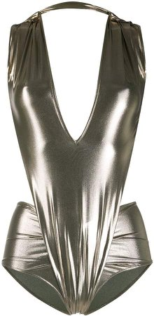 Metallic Cut Out Swimsuit