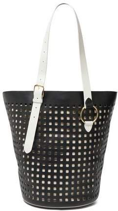 Origami Perforated Leather Tote