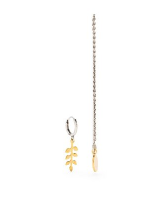 Isabel Marant New Leaves Asymmetric Earrings - Farfetch