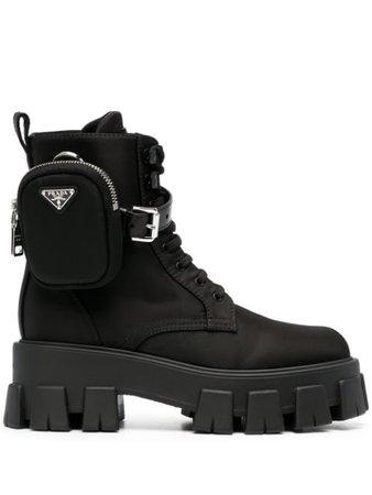 Prada pocket-detail combat boots black 1T549MF0551YFL - Farfetch