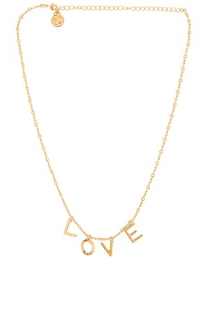 Cloverpost Code Words LOVE Necklace in Yellow Gold | REVOLVE