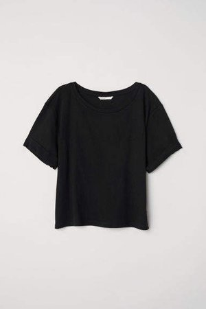 Wide-cut T-shirt - Black