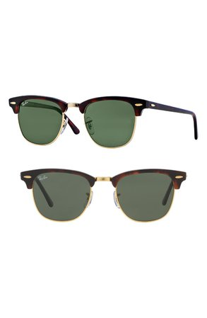 Ray-Ban Standard Clubmaster 51mm Sunglasses | Nordstrom