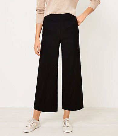 Petite Curvy Wide Leg Crop Pants