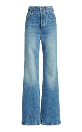 Rigid High-Rise Bootcut Jeans By Paco Rabanne | Moda Operandi