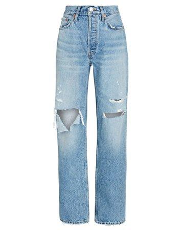 RE/DONE 90s Comfy Straight-Leg Jeans | INTERMIX®