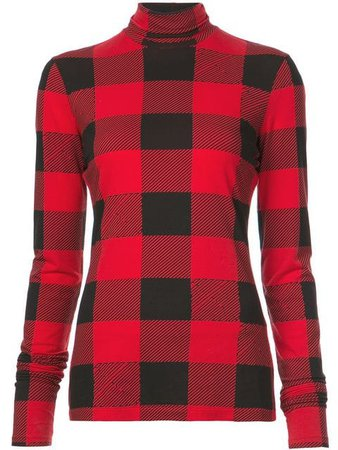 Proenza Schouler PSWL Buffalo Plaid Turtleneck - Farfetch