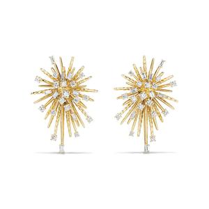 DAVID YURMAN - Supernova Climber Earrings with Diamonds in 18K Gold