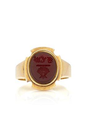 15K Gold Carnelian Ring by VELA   Moda Operandi