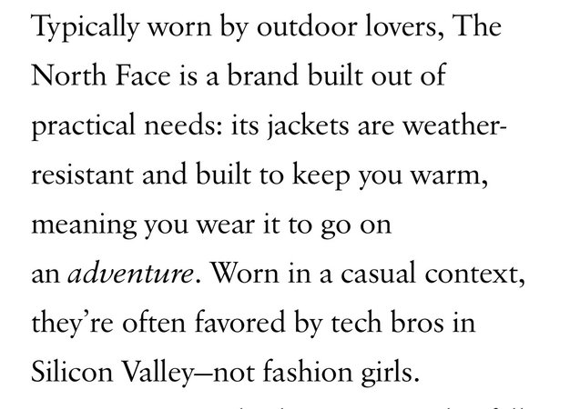 the north face jacket article