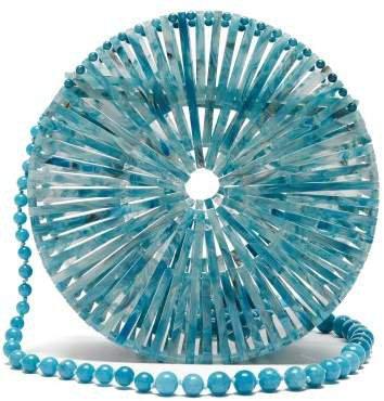 Luna Acrylic Shoulder Bag - Womens - Blue