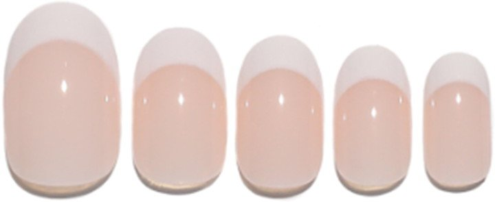 Static Nails Round Pop-On Reusable Manicure Set