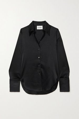 NANUSHKA, Mandine satin shirt