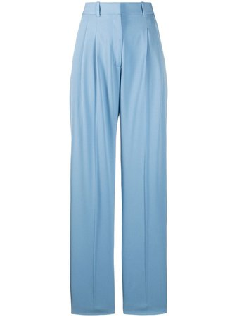 Stella Mccartney High-Waisted Straight-Leg Trousers Ss20 | Farfetch.com