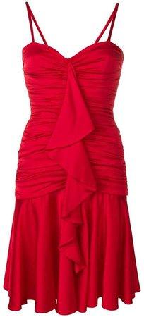 frill-trim flared dress