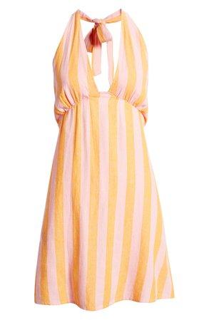 BP. Linen Halter Dress | Nordstrom