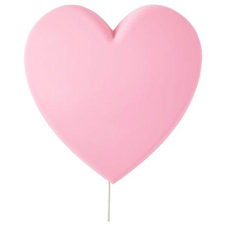 UPPLYST LED wall lamp, heart pink - IKEA