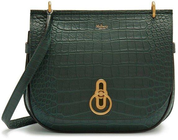 Amberley Croc Embossed Leather Shoulder Bag