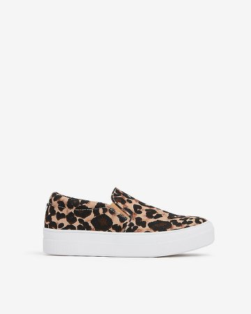 Steve Madden Leopard Gills Slip-On Sneakers