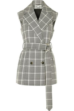 Stella McCartney | Belted Prince of Wales checked wool vest | NET-A-PORTER.COM