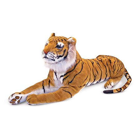 Melissa & Doug Tiger Giant Stuffed Animal, Wildlife, Soft Fabric, Beautiful Tiger Markings, Hand Crafted, 170.18 cm H x 50.8 cm W x 35.56 cm L, Animals & Figures - Amazon Canada