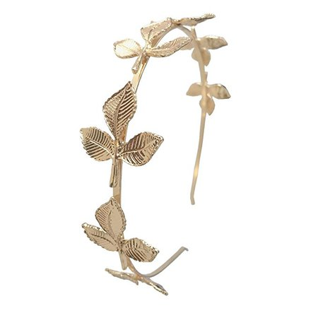 DRESHOW Leaf Headband Greek Goddess Headpiece Leaf Branch Dainty Bridal Hair Crown Head Dress Boho Alice Band