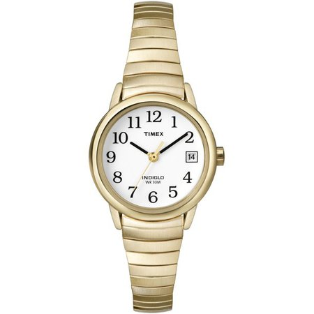 Timex - Timex Women's Easy Reader 25mm Watch, Gold-Tone Stainless Steel Expansion Band - Walmart.com - Walmart.com