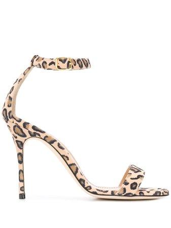 Manolo Blahnik Chaos Leopard Sandals Ss20
