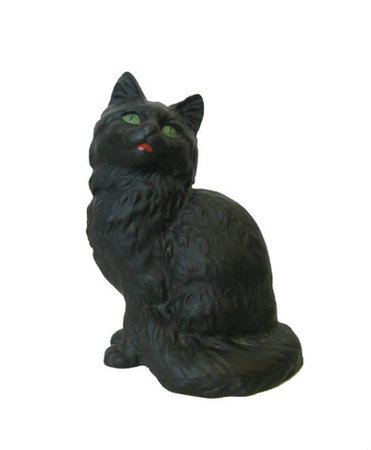 Vintage Cast Iron Black Cat Kitten Door Stop Figurine by Art | Etsy
