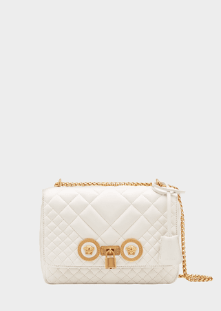 Versace Medium Quilted Icon Shoulder Bag for Women | US Online Store