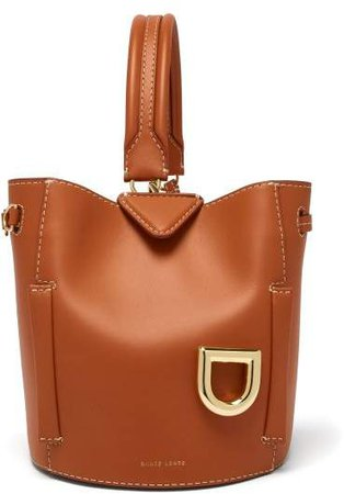 Josh Ginger Leather Bucket Bag - Womens - Tan