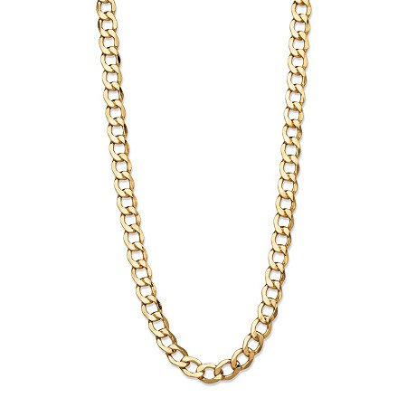"""Curb-Link Chain Necklace in 10k Yellow Gold 18"""" (6.5mm) at PalmBeach Jewelry"""