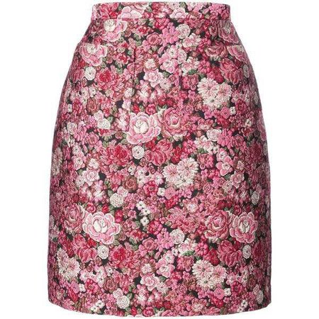 Adam Lippes MultiColor Floral Mini Skirt