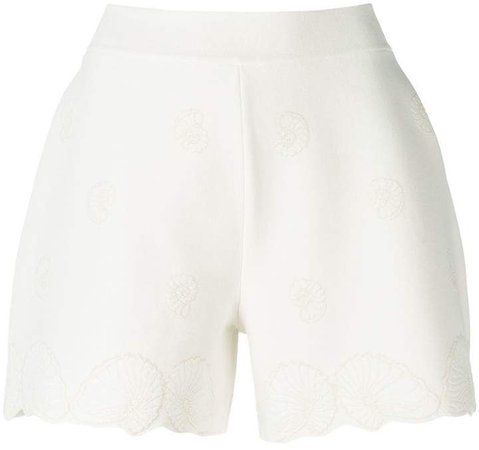 shell jacquard knitted shorts