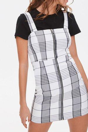 Plaid Pinafore Dress   Forever 21