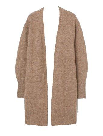H&M Brown Knit Long Cardigan