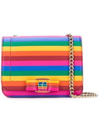 Salvatore Ferragamo 'Vara' Rainbow crossbody bag