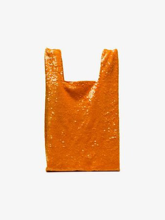 Ashish orange Sequin Nylon Tote Bag | Browns
