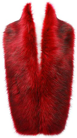 Changuan Women's Winter Faux Fox Fur Collar Long Scarf Wrap Shawl Shrug Red- 125cm at Amazon Women's Clothing store