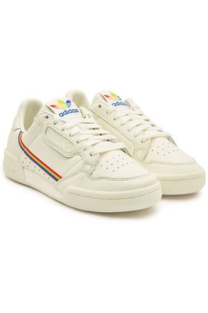 Adidas Originals - Continental 80 Pride Leather Sneakers - white