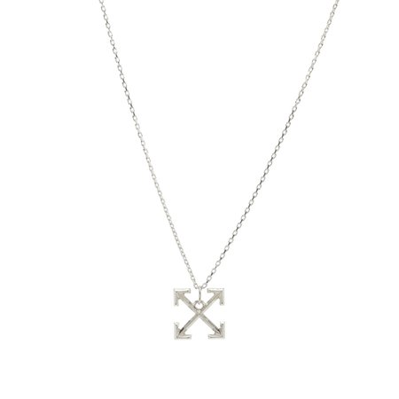 Off-White Arrows Necklace Silver | END.