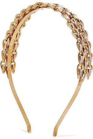 Rosantica | Gold-tone crystal headband | NET-A-PORTER.COM