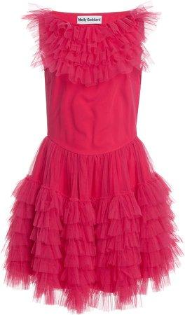 Molly Goddard Felicity Ruffled Tulle Mini Dress