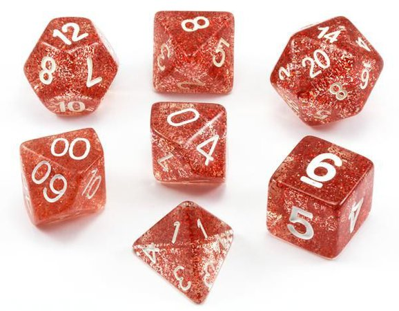 glitter dice ruby red - Google Search