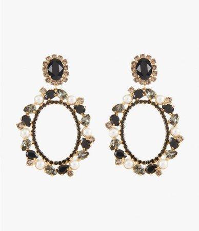Crystal Frame Earring