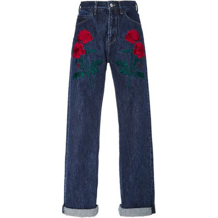 Adam Selman Rodeo Embroidered Jeans