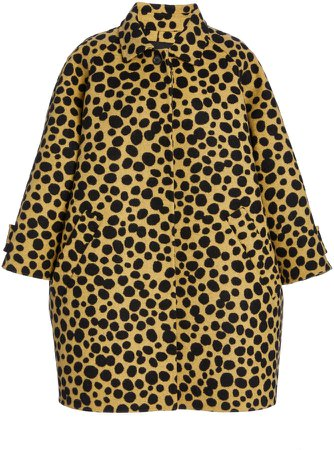 Marc Jacobs Printed Wool-Silk Short Balmacaan Coat